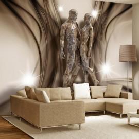 Papel de parede autocolante - In marble embrace