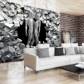 Papel de parede autocolante - Stone People