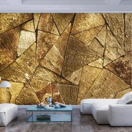 Fotomural - Pavement Tiles (Golden)