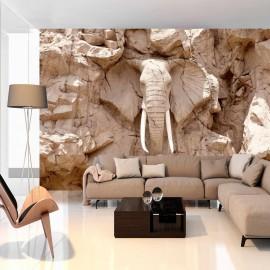 Papel de parede autocolante - Elephant Carving (South Africa)