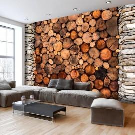 Papel de parede autocolante - Wooden Gate