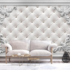 Papel de parede autocolante - Quilted Leather