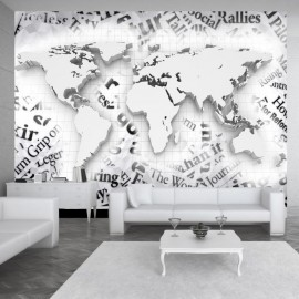 Fotomural - The world of newspapers