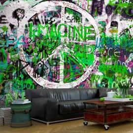 Fotomural - Green Graffiti