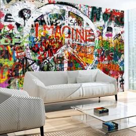 Fotomural - Hippie Graffiti
