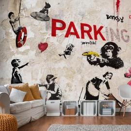 Fotomural - [Banksy] Graffiti Collage