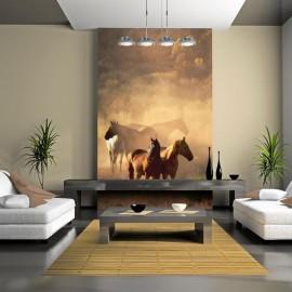 Fotomural - Os cavalos selvagens da estepe