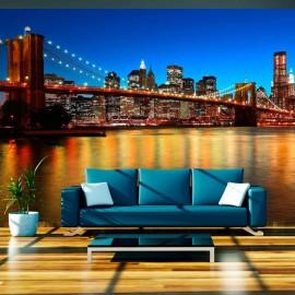 Fotomural - El crepúsculo al Puente Brooklyn