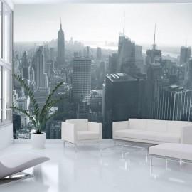 Fotomural - Horizonte de Nova York em preto e branco