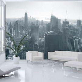Fotomural - Panorama de Nueva York en blanco y negro