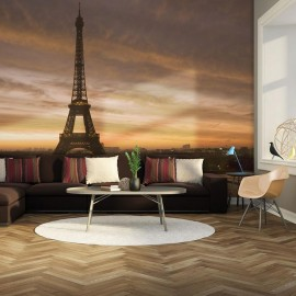 Fotomural - Torre Eiffel na madrugada