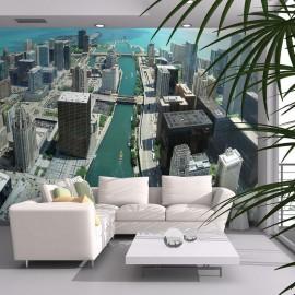 Fotomural - Arquitetura urbana de Chicago