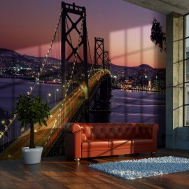 Fotomural - Charming evening in San Francisco