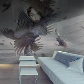 Fotomural - Cubierto por plumas