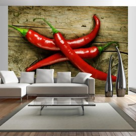 Fotomural - Spicy chili peppers