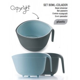 SET BOWL-COLADOR NORWAY AZUL