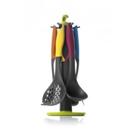 SET 6 UTENSILIOS COLORFUL + SOPORTE