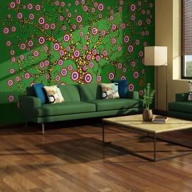 Fotomural - abstracto: árbol (verde)