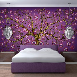 Fotomural - abstracto: árbol (violeta)