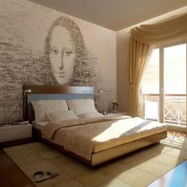 Fotomural - Mona Lisa en el pensamiento