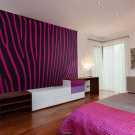 Fotomural - Zebra pattern (roxo)