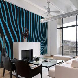 Fotomural - Zebra pattern (turquoise)