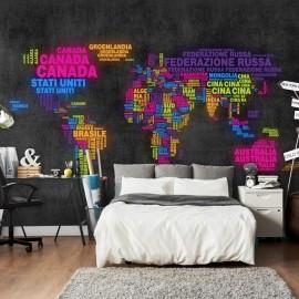 Fotomural - mapa, en italiano - colores