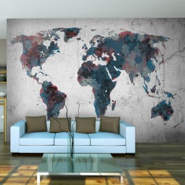 Fotomural - World map on the wall