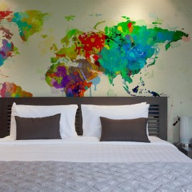 Fotomural - Paint splashes map of the World