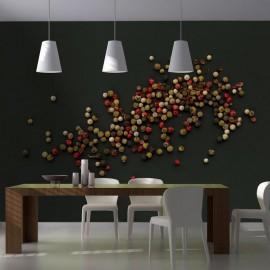 Fotomural - Composición de pimienta colorada