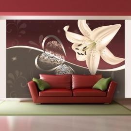 Fotomural - Lila de color crema