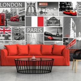 Fotomural - London, Paris, Berlin, New York