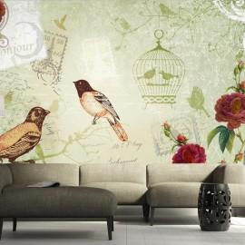 Fotomural - Vintage birds