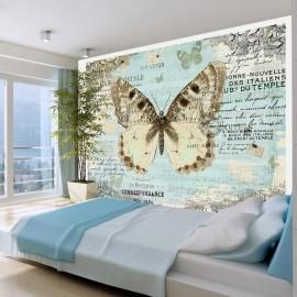 Fotomural - Postal con la mariposa