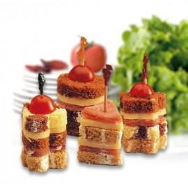 Cortador decorador sandwich - canapés (5 formas)