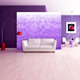 Fotomural - Píxel violeta