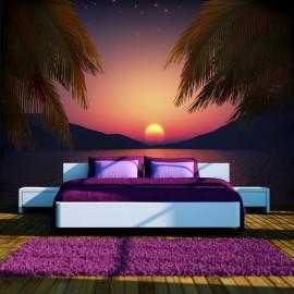 Fotomural - Noche romántica en la playa