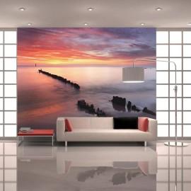 Fotomural - Salida del sol al Mar Báltico