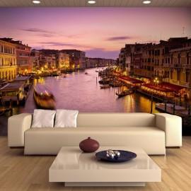 Fotomural - Venecia de noche, la ciudad de los enamorados