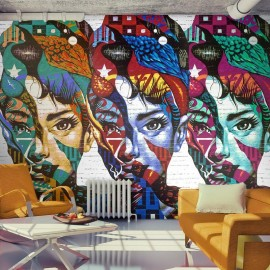 Fotomural - Colorful Faces