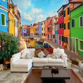 Fotomural - Colorful Canal in Burano