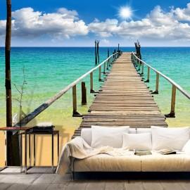 Fotomural - Playa, sol, puente