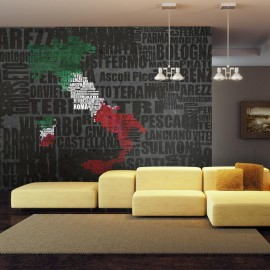 Fotomural - Text map of Italy