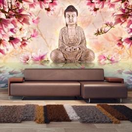 Fotomural - Buddha and magnolia