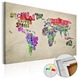 Quadro de cortiça - Global Tournée (EN) [Cork Map]