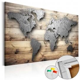 Quadro de cortiça - Silver World [Cork Map]