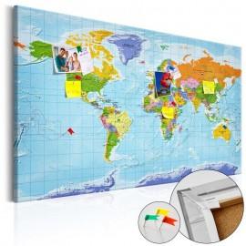 Quadro de cortiça - World Map: Countries Flags [Cork Map]