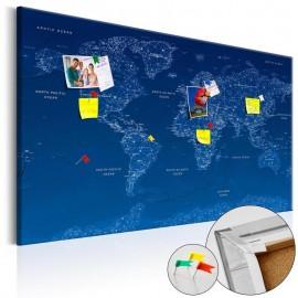 Quadro de cortiça - World Map: World Connection [Cork Map]