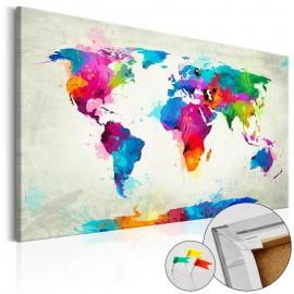 Quadro de cortiça - An Explosion of Colors [Cork Map]