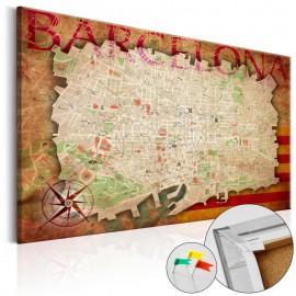 Quadro de cortiça - Map of Barcelona [Cork Map]